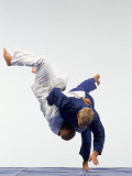 Judo, Male Performing Ippon Against Opponent Photographic Print