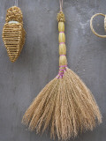 China, Yunnan Province, Straw Broom Hanging on the Wall Photographic Print by Keren Su