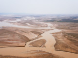 Rape and Barley Fields by the Yellow River at Lajia, Qinghai Province, China, Photographic Print