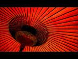 Horizontals: Red Parasol Photographic Print