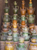 China, Xinjiang Province, Kashgar, Selling Pottery at Sunday Market Photographic Print by Keren Su