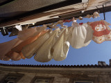 Laundry on a Clothes Line in Lisbon, Portugal Photographic Print