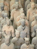 China, Shaanxi Province, Xian, Terra Cotta Warriors in Emperor Qinshihuangdi's Tomb Photographic Print by Keren Su
