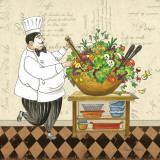 Chef Salad Prints by Pamela Gladding