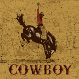 Rodeo Cowboy Print by Peter Horjus