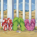 Flip Flop Beach I Prints by Paul Brent