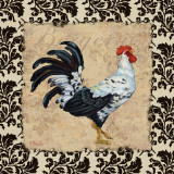 Bergerac Rooster Black I Art by Paul Brent
