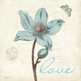 Touch of Blue IV (Love) Poster di Katie Pertiet