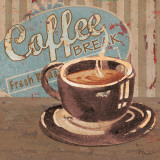 Coffee Brew Sign I Kunstdruck von Paul Brent