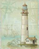 East Coastal Light Poster by Daphne Brissonnet