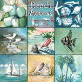 Adgang til stranden, på engelsk Plakater af Gregory Gorham