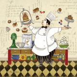 Ciasta szefa kuchni Plakaty autor Pamela Gladding