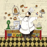Chef Pastry Prints by Pamela Gladding