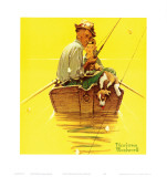 魚群探知機 高画質プリント : ノーマン・ロックウェル