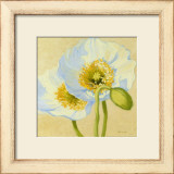 White Poppies III Print by Shirley Novak