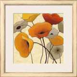 Pumpkin Poppies II Prints by Shirley Novak