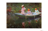 The Boat at Giverny Giclée-tryk af Claude Monet