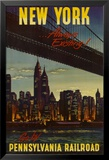 New York by Pennsylvania Railroad Poster
