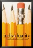 Individualität Poster