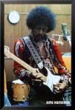 Jimi Hendrix dans son studio Affiche