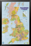 British Isles Map Poster