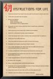 Instructions pour la vie du Dalai Lama en anglais Poster