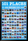 101 Places to See Poster