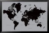 Weltkarte - Modern Kunstdruck