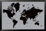 Carta geografica mondiale, contemporanea Poster