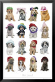 Puppies in Hats Print by Keith Kimberlin