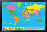 World Map - Children's Poster