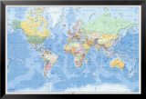 Weltkarte - Deutsch Foto