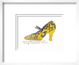 Yellow Pattern Shoe, c.1955 Póster por Andy Warhol