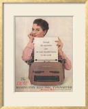 Remington, Secretaries Typewriters, USA, 1950 Lámina giclée enmarcada