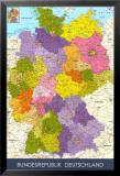 Carte de l'Allemagne Affiches