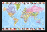World Map - Political Prints