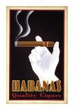 Habanas, puros de calidad, en inglés Lámina giclée por Steve Forney