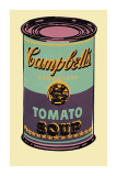 Campbell's suppedåse, 1965 (grøn og lilla), Campbell's Soup Can, 1965 (Green and Purple) Giclée-tryk af Andy Warhol