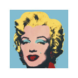 Marilyn, c.1967 (On Blue Ground) Giclée-tryk af Andy Warhol