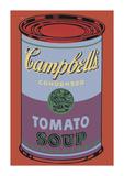 Andy Warhol - Campbell's Soup Can, 1965 (Blue and Purple) Digitálně vytištěná reprodukce