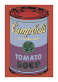 Campbell's Soup Can, 1965 (Blue and Purple) Giclee Print by Andy Warhol