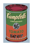 Campbell's Soup Can, 1965 (Green and Red) Giclee Print by Andy Warhol