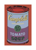 Campbell's Soup Can, 1965 (Blue and Purple) Giclée-tryk af Andy Warhol