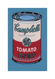 Campbell's suppedåse, 1965 (lyserød og rød), Campbell's Soup Can, 1965 (Pink and Red) Giclée-tryk af Andy Warhol