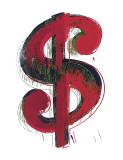 Andy Warhol - Dolary, $$$ Digitálně vytištěná reprodukce
