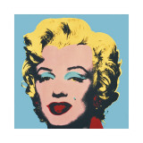 Marilyn, c.1967 (On Blue Ground) Giclee Print by Andy Warhol