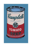 Lata de sopa Campbell, 1965, rosa y rojo Lámina giclée por Andy Warhol