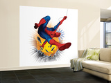 Spider-Man Swinging in City Wall Mural – Large