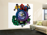 Marvel Heroes: Luke Cage, Spider-Man, Cyclops, Abomination, Dr. Doom, Green Goblin Wall Mural – Large