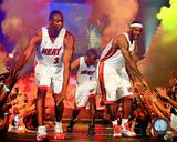 Dwyane Wade, LeBron James, &amp; Chris Bosh 2010 Welcome Party Photo